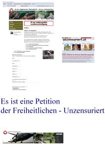 """Petition """"Pro Wehrpflicht"""" - Noch eine freiheitliche Verkleidung"""