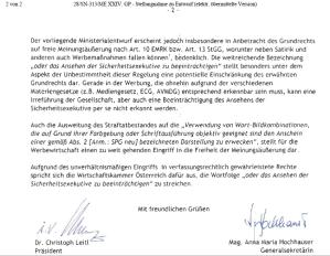 """SPG-Novelle: """"Unverhältnismäßiger Eingriff in verfassungsrechtlich gewährleistete Rechte"""""""