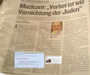 Religiöse Beschneidung - Ariel Muzicant, der Brigitte Kashofer der Israelitischen Kultusgemeinde