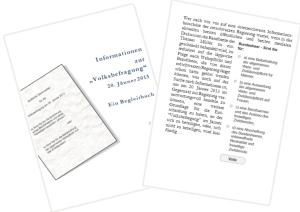 """Informationen zur """"Volksbefragung"""" 20. Jänner 2013"""