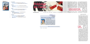 Andreas Stupka in Zur Zeit und die Kreuzüge