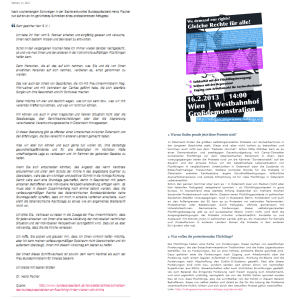 Heinz Fischer - Forderungen und Antwort - Eine Gegenüberstellung