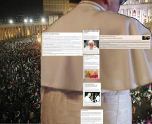 Im Rücken Papst Franziskus I - Petersplatz Rom Ort der Jubelschande