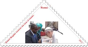 Mugabe Franziskus stamp