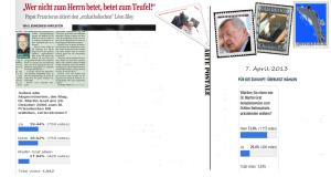 Zwischenergebnisse Umfrage Freiheitliche 7-4-2013