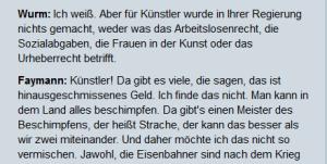 Wurm - Faymann Mehr nicht zu Kunst