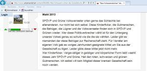 Auf freiheitlicher Website - Norbert Hofer einer der Autoren