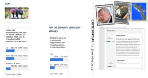 Umfragen - Letzte Zwischenstände vor der NR-Wahl 2013