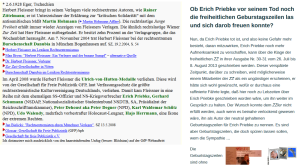 Herbert Fleissner - Zur Zeit - Erich Priebke