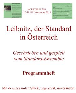 Leibnitz, der Standard  in Österreich - Eine Aufführung im Arse-Theatre
