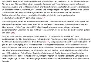 """Burschenschaft Brixia - """"Kaderschmiede nationaler und rechtsextremer Gesinnung"""""""