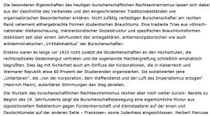 Stramm rechts - Deutsche Burschenschaften - Rechtsradikales Gedankengut vor 1933