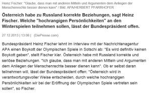 Heinz Fischer - Olympia-Boykott