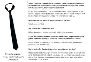 Sebastian Kurz - erstes diplomatisches Protokoll