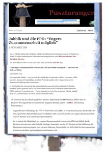 Andreas Mölzer - FPÖ und Jobbik