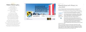 Unsere Stadt Ried - Tirol wird Österreich - Eine Umdichtung