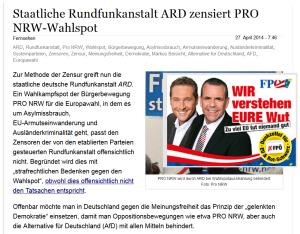ARD Wahlkampfspot FPÖ Unzensuriert
