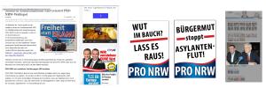 FPÖ - PRO NRW - UNTERBERGER - Plakate
