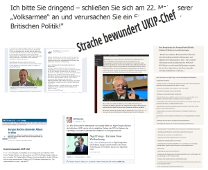 """EU-Wahl heißt für den von He.-Chr. """"Strache bewundert[en] UKIP-Chef"""" nicht zu wählen, sondern in die """"Volksarmee"""" einzutreten"""
