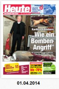 Umsonst Aufmacher mit Schönborn Christoph