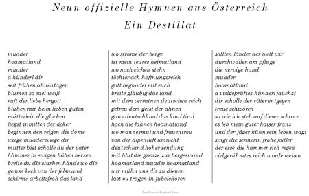 Landeshymne - Bundeshymne - Österreich - Ein Destillat