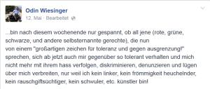 Odin Wiesinger kein bin