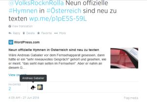 Andreas Gabalier favorisiert Neutextung von Bundeshymne und Landeshymnen
