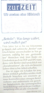 Detlev Wimmer - Leserbriefschreiber