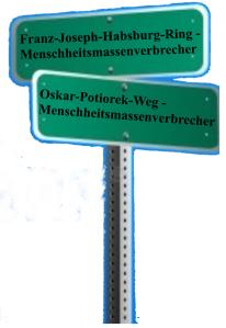 Ehrenbürger Oskar-Potiorek - Menschheitsmassenverbrecher