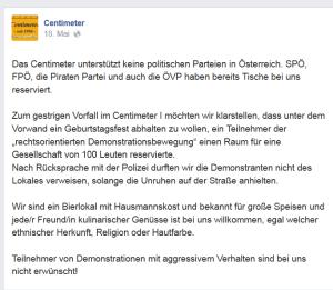 Identitäre und Unruhen - Wiener Polizei verwechselt Wien mit Irgendwo