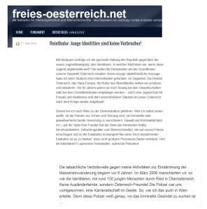 Identitäre - Reinthaler - Polizei - Kameraden im Geiste