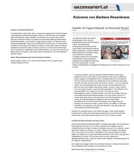 NR Barbara Rosenkranz - Kolumnistin Unzensuriert