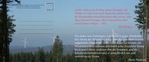 Ansichtskarte Das Sinnen des Akif Pirincci in den Wäldern von Deutschland