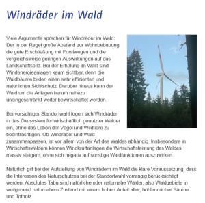 Windunion - Windräder im Wald