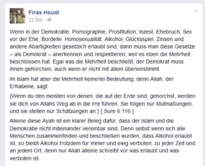 Allah hadet im Gebet mit seiner Göttin Demokratie