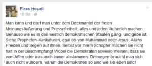 Allah ruft zornig seine Göttin Demokratie an
