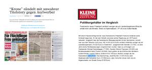 Für das Lesen der Kronenzeitung reichlich Steuergeld für He-Chr Strache
