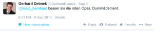 Gerhard Deimek - Besser als die roten Opas