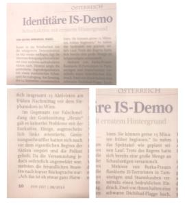 Identitäre Demo - Zur Zeit - Polizei - Gerne früher beginnen