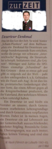 NR Mölzer - Deserteursdenkmal - Schandmal