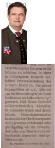 Einen ostmärkischen NS-Kriegsverbecher läßt NR Mölzer in seiner geführten ZZ verteidigen