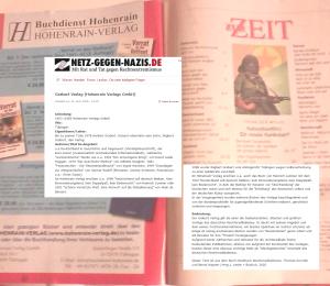 Hohenrain Verlag und FPÖ inserieren ganzseitig in der Zur Zeit