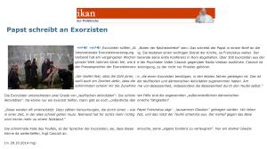Papst Franziskus - Wer zu Gott betet - betet auch zum Teufel