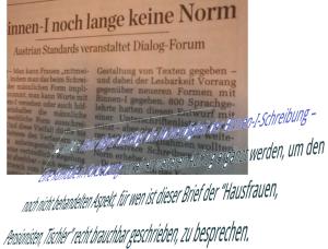 Sprachgelehrte der Qualitätszeitung Der Standard