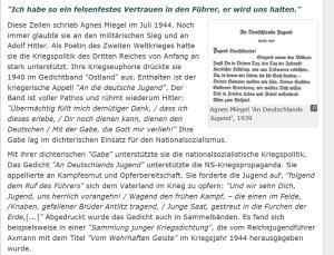 Agnes Miegel NS-Kriegspolitik