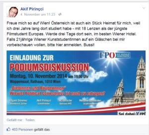 Akif Pirincci und FPÖ passen recht zueinander