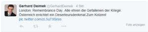 Deserteursdenkmal - Zum Kotzen - Gerhard Deimek NR FPÖ