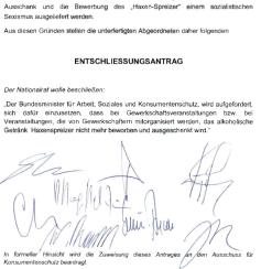 FPÖ Entschließungsantrag 2 - Gegen sozialistischen Sexismus