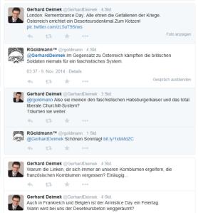 FPÖ NR Deimek findet Deserteursdenkmal zum Kotzen am 9-11-2014