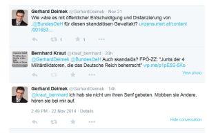 FPÖ NR Gerhard Deimek - Seine Antwort auf eine Frage